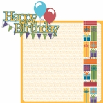 Ice Cream & Cake: Happy Birthday 2 Piece Laser Die Cut Kit
