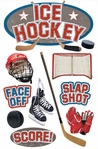 Ice Hockey 3D Sticker