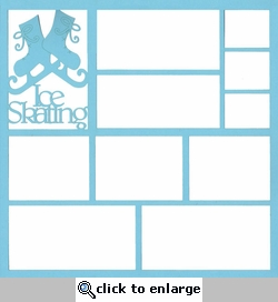 Ice Skating 12 x 12 Overlay Laser Die Cut
