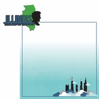 Illinois: IL Land of Lincoln  2 Piece Laser Die Cut Kit