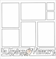 In Loving Memory 12 x 12 Overlay Laser Die Cut