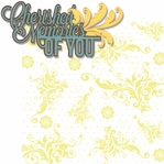 In Memory: Cherished Memories Of You 2 Piece Laser Die Cut Kit