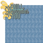 In Memory: I Will Remember You 2 Piece Laser Die Cut Kit