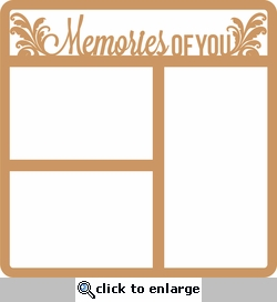 In Memory: Memories Of You 12 x 12 Overlay Laser Die Cut