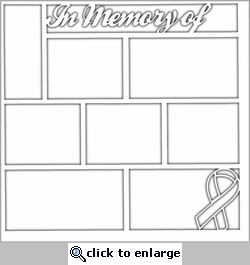 In Memory Of Ribbon 12 x 12 Overlay Laser Die Cut