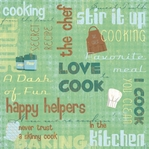 In the Kitchen: Stir It Up Collage 12 x 12 Paper