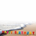 It's your Birthday: Birthday Candles In the Sand 12 x 12 Paper