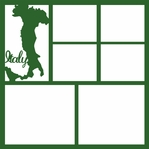 Italy Country 12 x 12 Overlay Laser Die Cut
