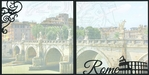 Italy: Rome Double 12 x 12 Overlay Quick Page Laser Die Cut