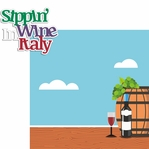 Italy: Sipping Wine In Italy 2 Piece Laser Die Cut Kit