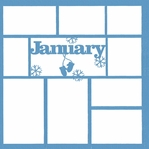 January 12 x 12 Overlay Laser Die Cut