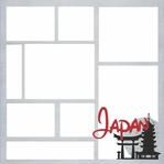 Japan Theme Park 12 x 12 Overlay Laser Die Cut
