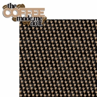 Java Love: The Coffee Made Me Do It 2 Piece Laser Die Cut Kit