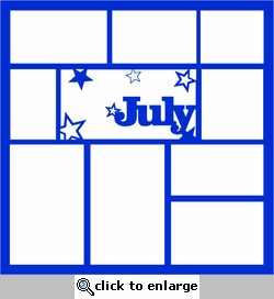 July 12 x 12 Overlay Laser Die Cut