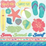 Just Beachy 12 x 12 Sticker Sheet with Spot Varnish