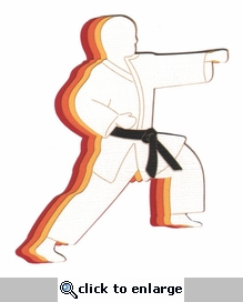 Karate Guy Laser Die Cut