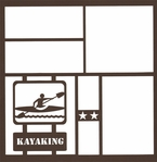 Kayaking Sign 12 x 12 Overlay Laser Die Cut