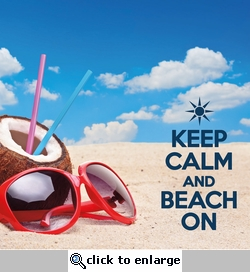 Keep Calm and Beach On 12 x 12 Paper