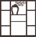 Kentucky Derby 12 x 12 Overlay Laser Die Cut