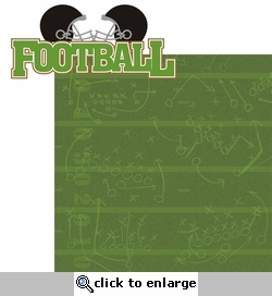 Kick Off: Football 2 piece Laser Die Cut