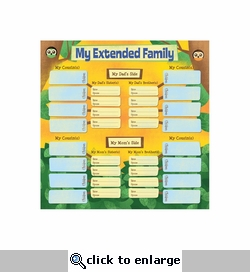 Kids' Ancestry: My Extended Family Chart 12 x 12 Paper