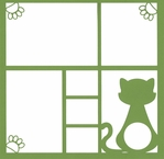 Kitty Frame 12 x 12 Overlay Laser Die Cut