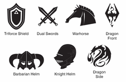 Knights and Dragons: Custom Shield Paper