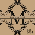 Large Monogram Custom 12 x 12 Paper