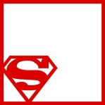 League of Justice: Super Man 12 x 12 Overlay Laser Die Cut