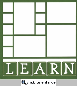 Learn Blocks 12 x 12 Overlay Laser Die Cut