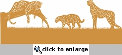 Leopards Page Border Die Cut