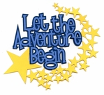 Let The Adventure Begin Laser Title Cut