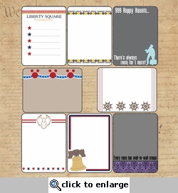 Liberty Square: Journaling Cards 12 x 12 Paper