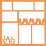 Life Is Better In Flip Flops 12 x 12 Overlay Laser Die Cut