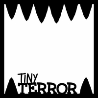 Lil Monsters: Tiny Terror 12 x 12 Overlay Laser Die Cut