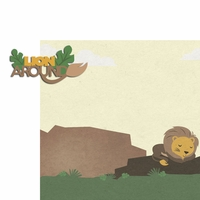 Lion: Lion Around 2 Piece Laser Die Cut Kit