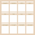 Little Calendar Boxes 12 x 12 Overlay Laser Die Cut