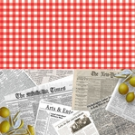 LOBSTER FEST: HALVSIES - TABLECLOTH AND NEWSPAPER 12 x 12 Paper