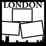 London 12 x 12 Overlay Laser Die Cut