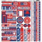 London 12 x 12 Sticker Sheet