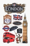 London 3D Stickers