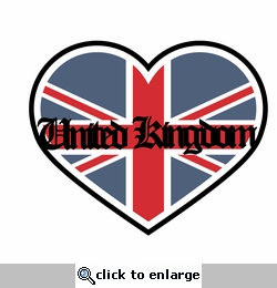 London: I heart United Kingdom Laser Die Cut