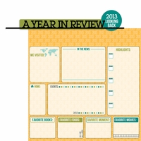 Looking Back: 2013 A Year In Review 2 Piece Laser Die Cut Kit