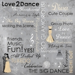 Love 2 Dance Collage 12 x 12 Double-Sided Paper