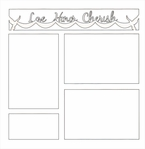 Love Honor Cherish 12 x 12 Overlay Laser Die Cut