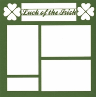 Luck Of The Irish 12 x 12 Overlay Laser Die Cut