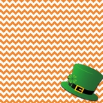 Lucky: Hat with Chevron 12 x 12 Paper