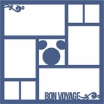 Magic Cruise: Bon Voyage 12 x 12 Overlay Laser Die Cut