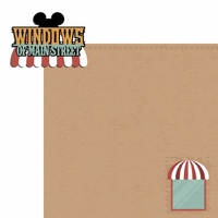 Magic Kingdom: Windows of Main Street  2 Piece Laser Die Cut Kit