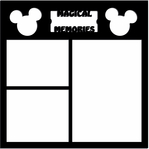 Magic Moments: Magic Memories Ticket 12 x 12 Overlay Laser Die Cut